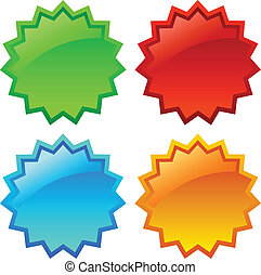 Vector star icons - Vector glossy star icons