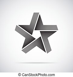 Vector star logo. Design template - Vector star logo design...