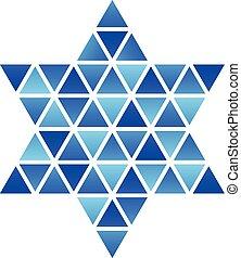 David Star mosaic icon