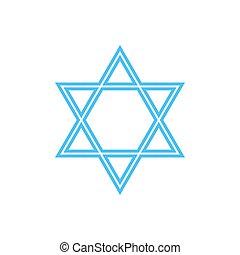 Vector Star of David - symbol of Judaism