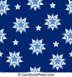 Vector star shape geometrical seamless pattern background