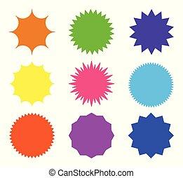 Vector starburst set