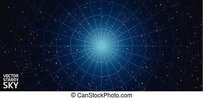 vector starry night sky background