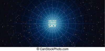vector starry night sky background