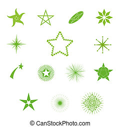 vector stars  - vector beautiful stars on a white background