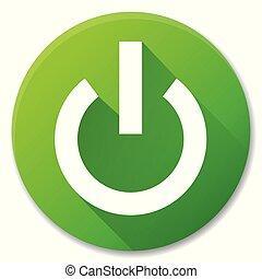 Vector start green circle icon