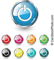 vector, start, set, iconen