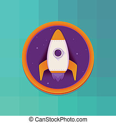 Vector start up concept in flat style