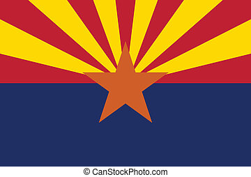 Arizona flag - Vector State of Arizona flag