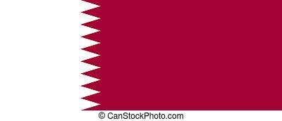 Qatar flag - Vector State of Qatar flag