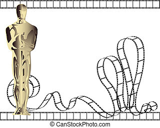 vector statuette background - vector oscar statuette...