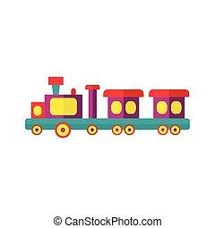 vector steam kids train from amusement park