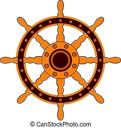 vector steering wheel of a ship
