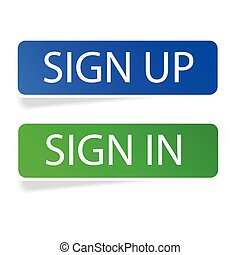 Sticker - Sign Up and Sign In
