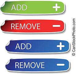 Vector stickers - add, remove
