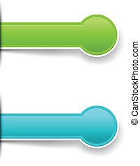 Vector stickers and labels