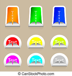 Vector stickers set with place for your text