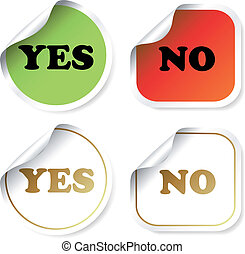 Vector stickers - yes and no