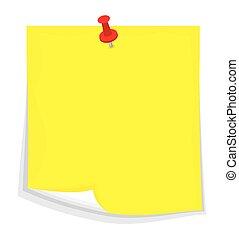 Vector sticky note