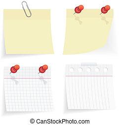 vector sticky paper set