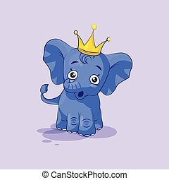 elephant calf surprised with big eyes - Vector Stock...