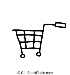 Vector stock illustration with single object, hand drawn, ...