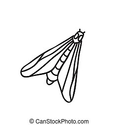Vector stock illustration with single object: insects, hand ...