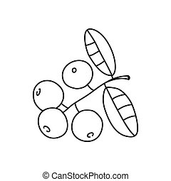 Vector stock illustration with single object: plant, hand ...