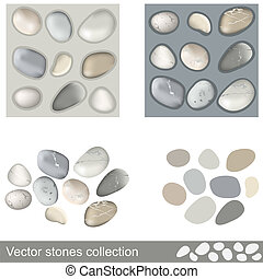Vector stones collection - Different stones collection with...