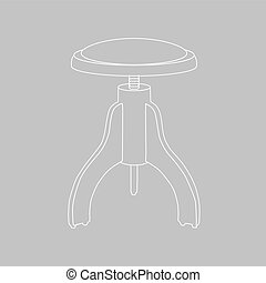 vector stool for piano. illustration.