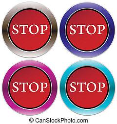 Vector stop button