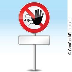 Vector stop icon