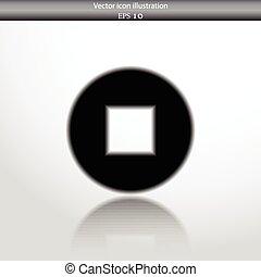 Vector stop web flat icon