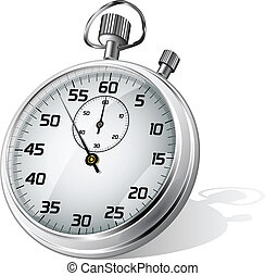 Vector stopwatch - Vector illustration of stopwatch over ...