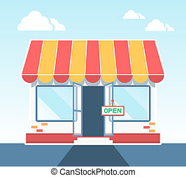 Store, Shop or Market Icon vector illustration