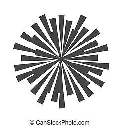 vector, stralen, ster, illustration., barsten, ontploffing, zon, abstract, starburst, vorm., of, vorm, lines., white., licht, zonnestraal, geometrisch, circulaire, radiaal, element., straal