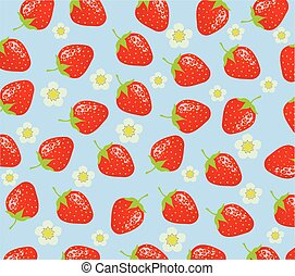 strawberries - vector strawberries background