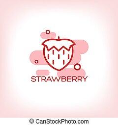Vector Strawberry flat Icon
