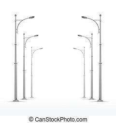 Vector Street Lamp Isolated on White Background - Vector ...
