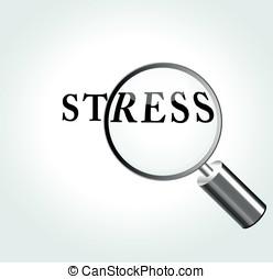 Vector stress illustration