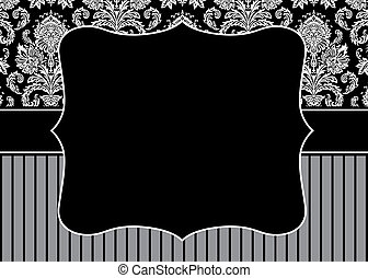 Vector Stripe Pattern and Frame - Vector decorative frame. ...