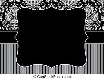 Vector Stripe Pattern and Frame - Vector decorative frame. ...