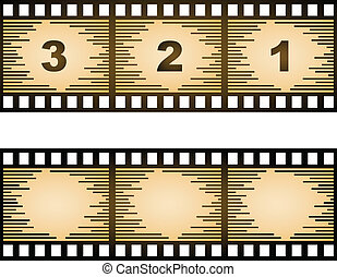 vector striped blank film strip