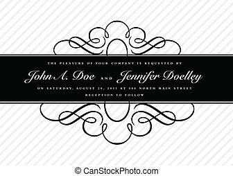 Vector Striped Ornate Frame and Background