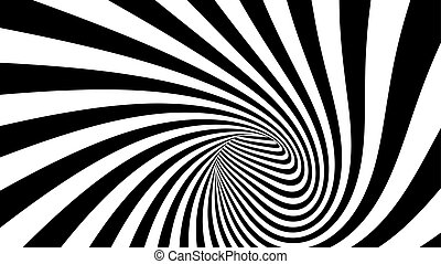 Vector striped spiral abstract tunnel - 3d vector striped ...