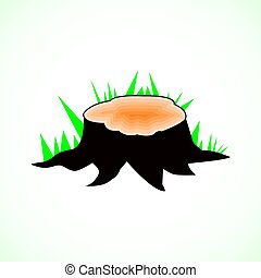 Vector stump on a white background, illustration, design, flat