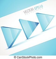 stylish 3d arrow illustration