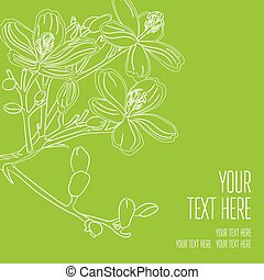 Vector stylish black floral background - design elements can be used for invitation, greeting cards