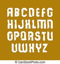 Vector stylish brush lowercase letters, handwritten font,...