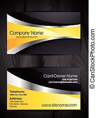 stylish business card template design